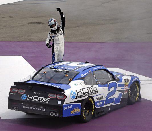 Tyler Reddick captured Saturday's NASCAR Xfinity Series event at Michigan Int'l Speedway. (HHP/Alan Marler Photo)