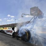 Steve Torrence is the top qualifier in the Top Fuel division at Heartland Motorsports Park. (NHRA Photo)