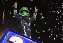 A surprised Rico Abreu ended up in victory lane at the Peter Murphy Classic for the Fujitsu King of the West 410 Series sprint cars at the Thunderbowl Raceway on Saturday night
