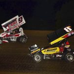 Paul Nienhiser won his second Built Ford Tough MOWA Sprint Car Series Delivered by Morrow Brothers Ford feature in as many nights Saturday night at Spoon River Speedway
