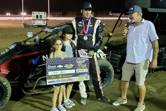 Starting third, Mike Martin worked his way past Brody Roa on lap 27 and powered to the CSP Birthday Bash win at Canyon Speedway Park