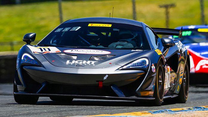 Michael Cooper won Saturday's Pirelli GT4 America Sprint event at Sonoma Raceway.