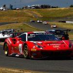 Miguel Molina and Toni Vilander on their way to victory Saturday at Sonoma Raceway.