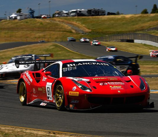Miguel Molina and Toni Vilander on their way to victory Saturday at Sonoma Raceway.