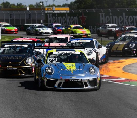 Roman De Angelis won Sunday's Porsche GT3 Cup Challenge by Yokohama event at Circuit Gilles Villeneuve. (IMSA Photo)
