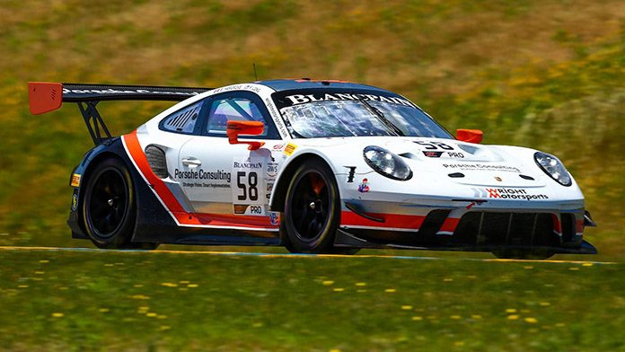 Scott Hargrove and Patrick Long triumph Sunday in Blancpain GT World Challenge America competition at Sonoma Raceway.