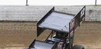 Kody Swanson at Mansfield Motor Speedway. (Todd Ridgeway Photo)