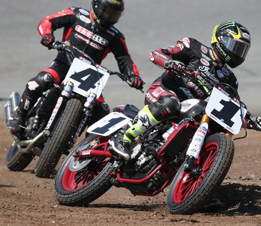 American Flat Track will make its debut at The Flat Track at New Hampshire Motor Speedway this Saturday. (AFT/Scott Hunter Photo)