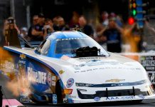 John Force at Bristol Dragway. (NHRA Photo)