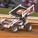 Freddie Rahmet en route to victory at Williams Grove Speedway. (Dan Demarco photo)