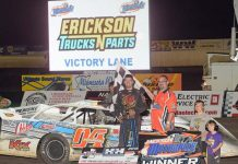 Tad Pospisil won Friday's Tri-State Late Model feature at the Jackson Motorplex. (Rob Kocak Photo)