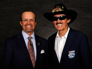 Kyle Petty (left) with his father, Richard Petty. (NASCAR Photo)