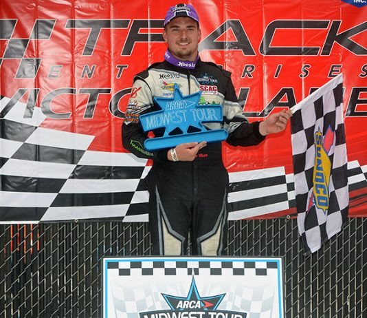 Austin Nason won Sunday's ARCA Midwest Tour Father's Day 100 at The Milwaukee Mile in racing's return to the historic venue. (Stan Kalwasinski Photo)