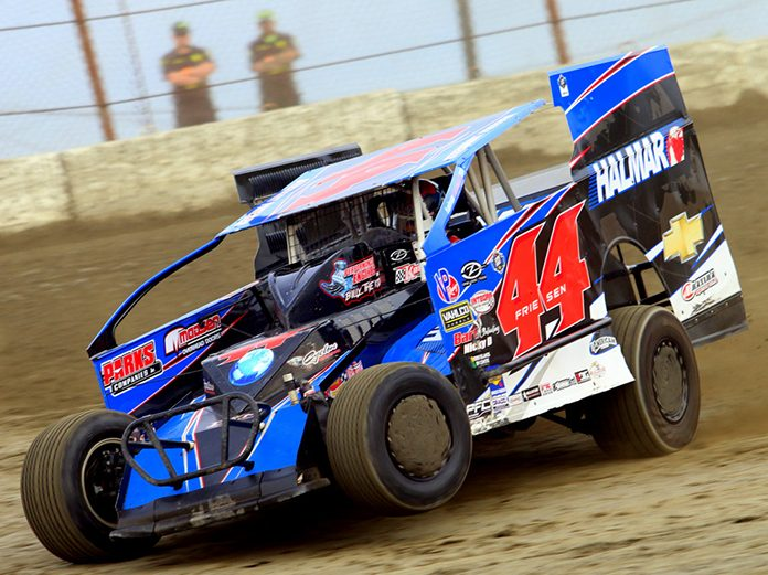 Stewart Friesen, shown here earlier this year, won Wednesday's Short Track Super Series event at Outlaw Speedway. (Dave Dalesandro Photo)