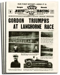 The cover of the first issue of what eventually became National Speed Sport News.