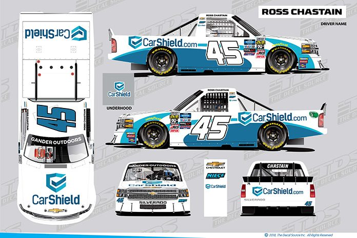 CarShield will sponsor Ross Chastain and Niece Motorsports this weekend at World Wide Technology Raceway.
