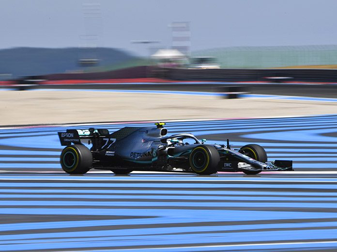 Valtteri Bottas was fastest on Friday at Circuit Paul Ricard in France. (Mercedes Photo)