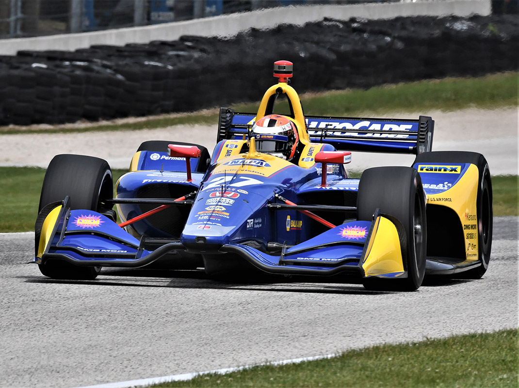 Alexander Rossi was fastest during practice Friday at Road America. (Al Steinberg Photo)