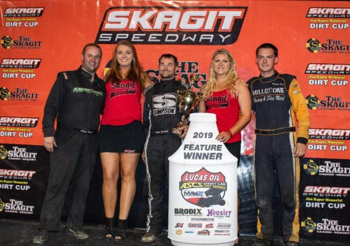 Roger Crockett (center is joined on the podium by Colton Heath and Robbie Price. (Lisa Dynes photo)