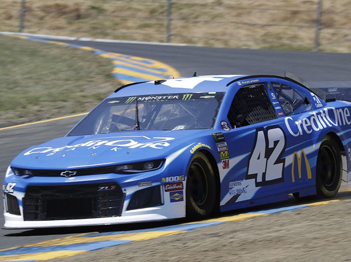 Kyle Larson will start from the pole during Sunday's Toyota/Save Mart 350 at Sonoma Raceway. (HHP/Harold Hinson Photo)
