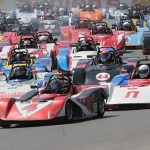 The field of Spec Racer Fords gets the green flag Saturday at Watkins Glen Int'l. (Mark Weber Photo)