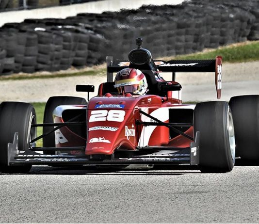 Kyle Kirkwood race to victory in Indy Pro 2000 competition on Saturday at Road America. (Al Steinberg Photo)