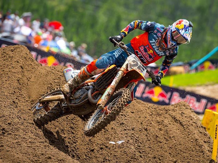 Marvin Musquin earned his first Lucas Oil Pro Motocross 450 class victory of the year Saturday in Florida. (Rich Shepherd Photo)