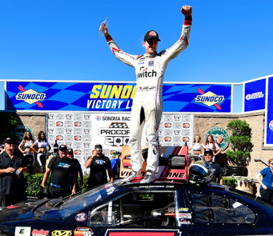 Noah Gragson won Saturday's NASCAR K&N Pro Series West event at Sonoma Raceway. (NASCAR Photo)