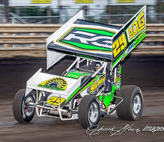 Russ Hall rolled to his first Pro Sprint Series victory at Knoxville Raceway on Saturday night. (Chuck Stowe Photo)