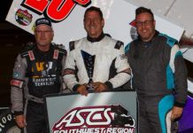 Rick Ziehl (center) shares the podium with Billy Chester III and Eric Wilkins. (Ron Gilson photo)