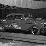 """The inaugural event took place December 30, 1962 with the """"Shake, Rattle and Run"""" '57 Chevy entry being one of the fastest cars that day. (Wayne Bryant Photo)"""