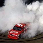 Kasey Kahne celebrates after winning in 2009 at Sonoma Raceway. (NASCAR Photo)