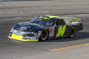 Sean Rayhall at the wheel of a late model in 2012. (Adam Fenwick Photo)
