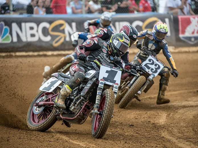 Jared Mees and the stars of American Flat Track are heading to the Allen County Fairgrounds this weekend in Ohio. (Scott Hunter/AFT Photo)