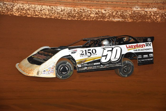Shanon Buckingham won Friday's Lucas Oil Late Model Series feature at Tazewell (Tenn.) Speedway. (Michael Moats photo)