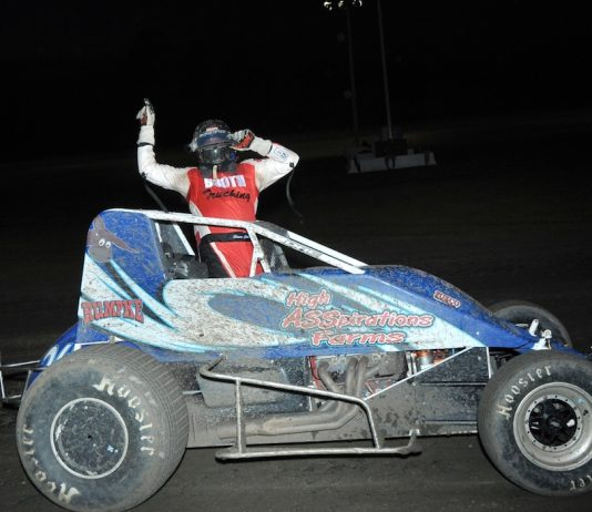 Shane Cottle won Friday's sprint car feature at Gas City I-69 Speedway. (Randy Crist photo)