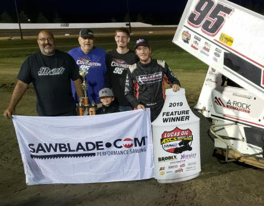 Matt Covington in victory lane. (ASCS photo)