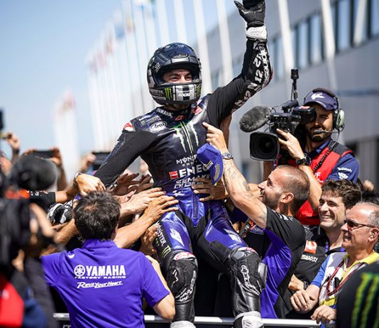 Maverick Vinales earned his first victory of the season Sunday at TT Circuit Assen. (Yamaha Photo)