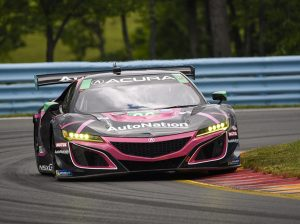 Trent Hindman, Mario Farnbacher and Justin Marks piloted the No. 86 Acura NSX GT3 to victory Sunday at Watkins Glen Int'l in the GT Daytona class. (Dennis Bicksler Photo)