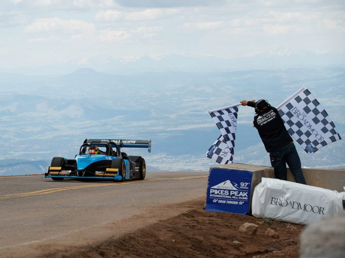 2019 Pikes Peak Int'l Hill Climb champion Robin Shute. (PPIHC/ Larry Chen Photo)