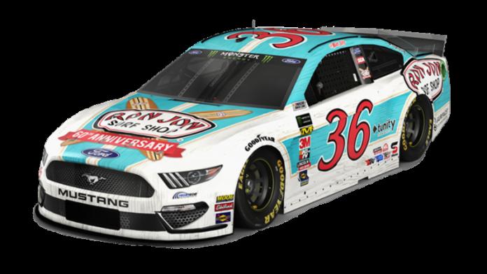 Ron Jon Surf Shop is sponsoring Matt Tifft this weekend at Daytona Int'l Speedway.