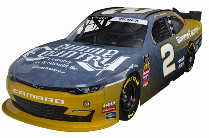 Gimmie Country will support Tyler Reddick beginning this weekend at Daytona Int'l Speedway.