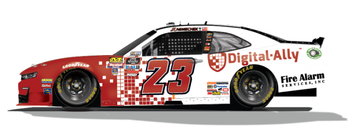Digital Ally will sponsor John Hunter Nemechek in a pair of NASCAR Xfinity Series races.