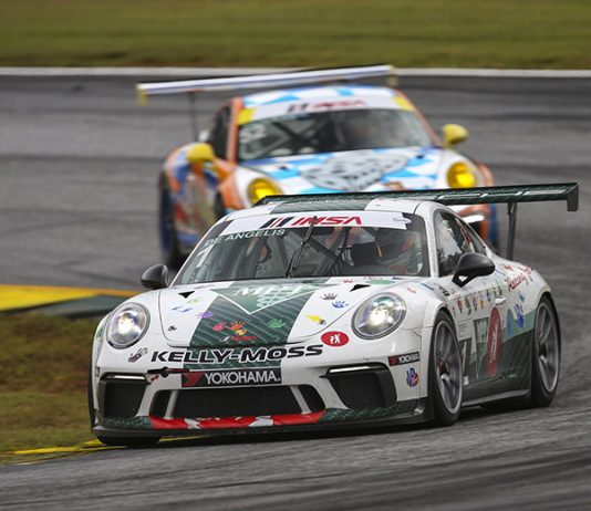 Roman De Angelis, shown here in 2018, will lead the Porsche GT3 Cup Challenge Canada by Yokohama back to Canadian Tire Motorsports Park this weekend. (IMSA Photo)