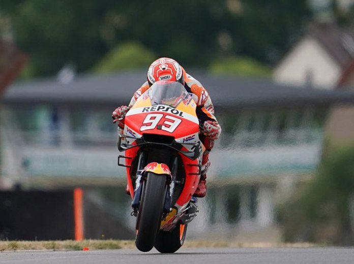 Marc Marquez was fastest on Friday at the Sachsenring in Germany. (Honda Photo)