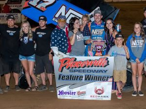 Shane Golobic in victory lane Thursday at Placerville Speedway. (DRP Photos)