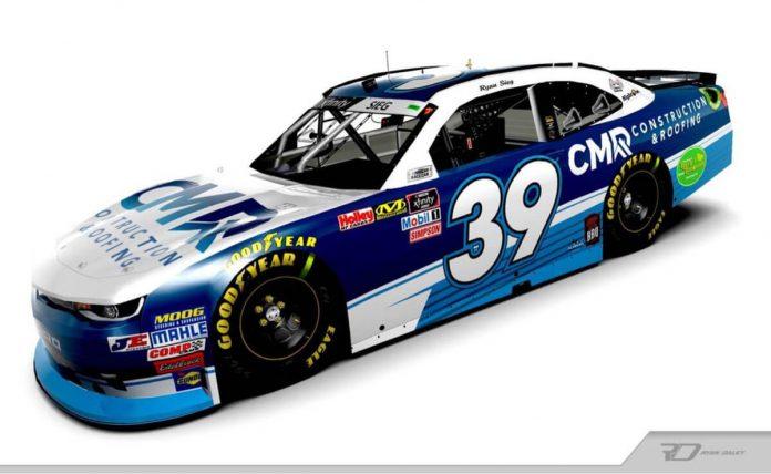 CMR Construction & Roofing will sponsor Ryan Sieg for the full 2020 NASCAR Xfinity Series season.