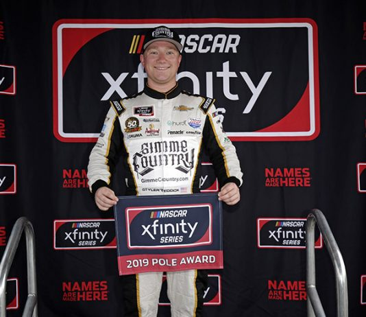 Tyler Reddick will lead the field to the green flag in Friday's NASCAR Xfinity Series race at Daytona Int'l Speedway. (HHP/Alan Marler Photo)