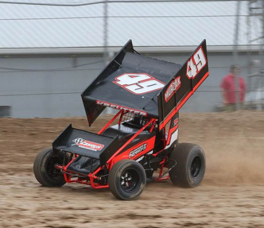 Scott Kreutter scored his first win of the season with the Kool Kidz-Corr/Pak 360 Sprint Cars Friday at Ohsweken Speedway. (Dale Calnan Photo)