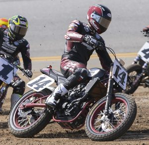 Briar Bauman rides his Indian during the Daytona TT earlier this year. (Indian Photo)